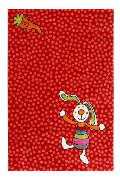 Sigikid Kinderteppich Rot » Rainbow Rabbit «
