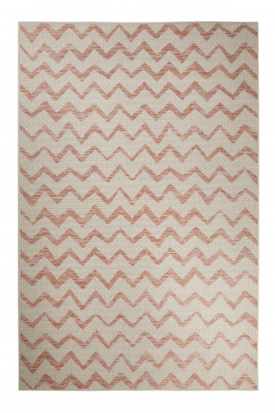 Esprit Kurzflor Teppich In & Outdoor » ZigZag « beige orange