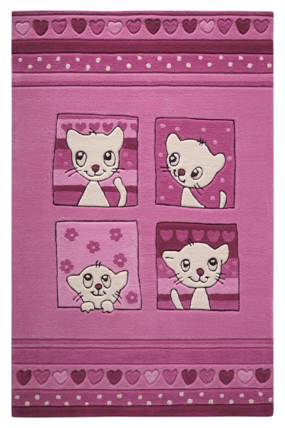 Smart Kids Kurzflor Teppich » Kitty Kat « rosa pink